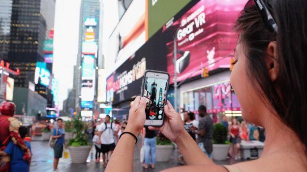 Pokémon Go en Times Square