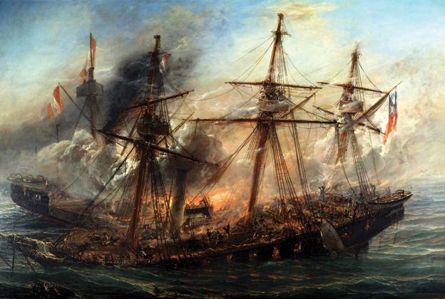 Pintura de combate naval