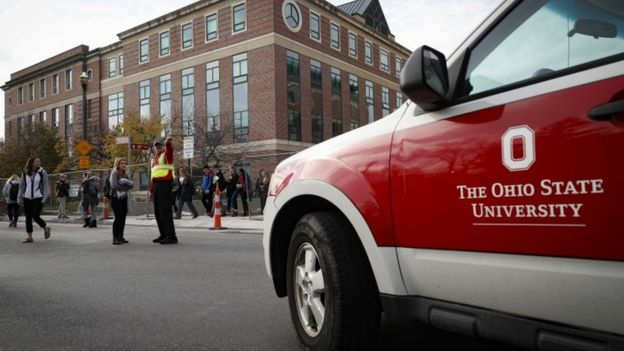 After the lockdown was lifted, students were briefly scanned by police as they exited school buildings