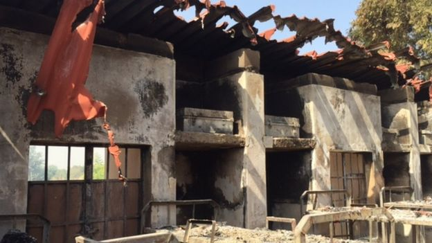girls dorm destroyed by fire