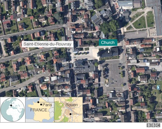 St Etienne du Rouvray map