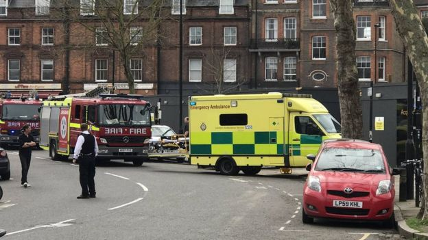 Fire engines and ambulances