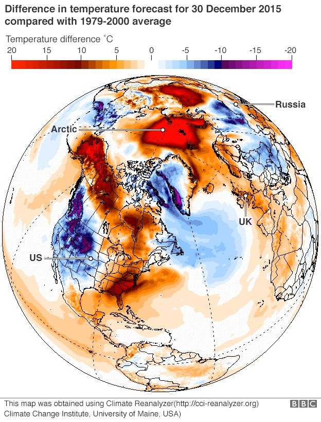 arctic temperature map