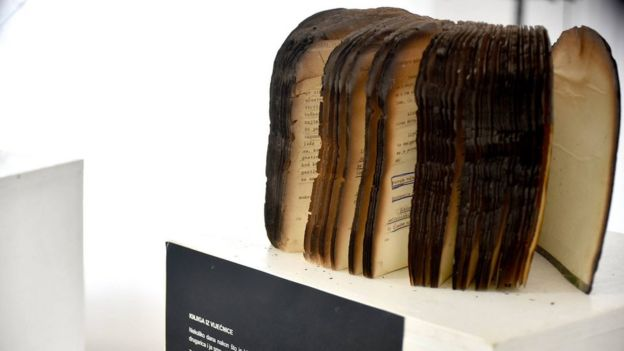 The burned book