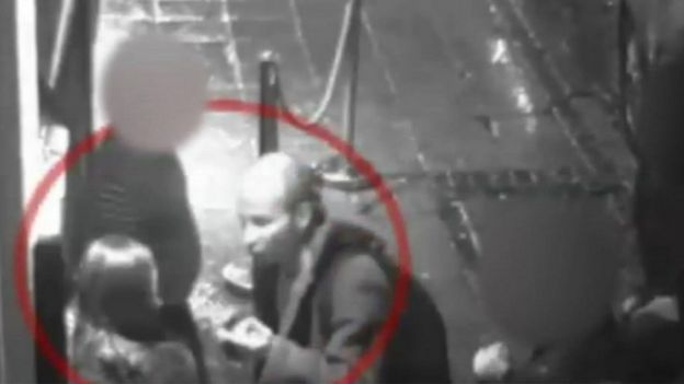 CCTV of Tenniswood and India outside the club