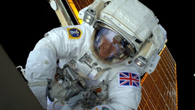 Tim Peake on spacewallk