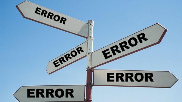 Señal en la que todos los caminos conducen a un error