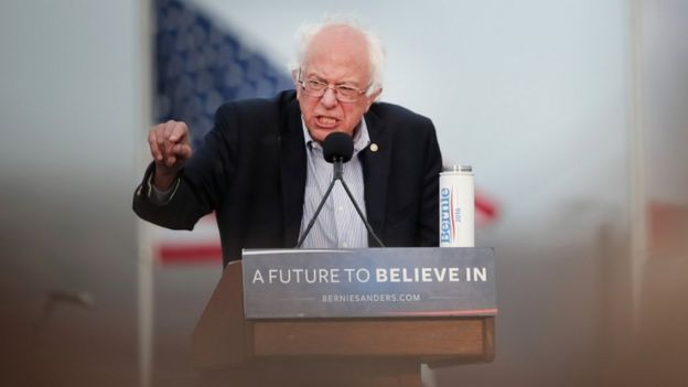 Bernie Sanders in San Francisco, 6 June