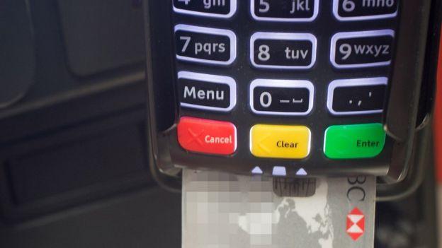Un punto de venta electrónico para el pago con tarjetas