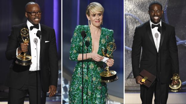 Courtney B Vance, Sarah Paulson and Sterling K Brown