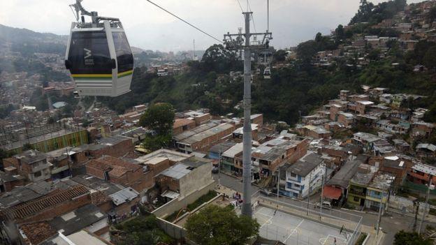 Metrocable de Medellín.