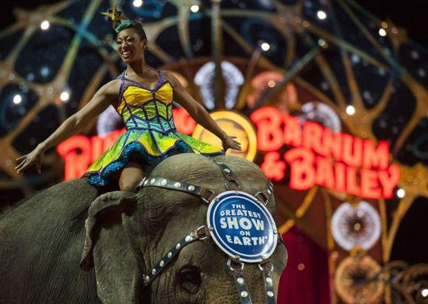Espectáculo de elefantes de Ringling Bros. and Barnum & Bailey