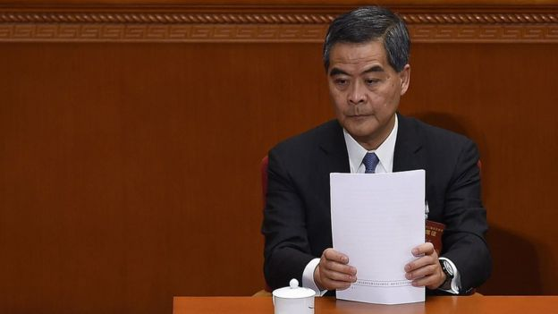 Hong Kong's outgoing leader CY Leung