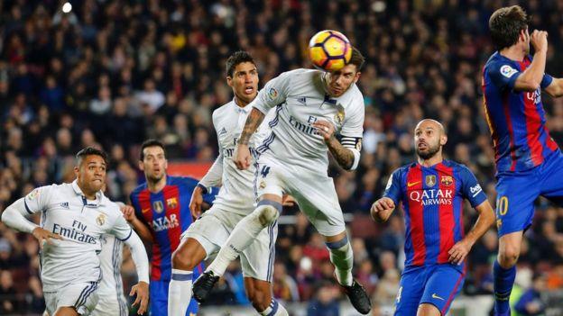 راموس لحظة تسجيل هدف التعادل لريال مدريد