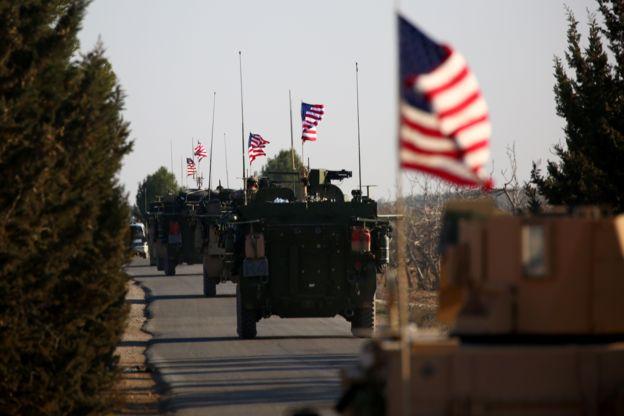 Menbiç yakınlarındaki ABD birlikleri