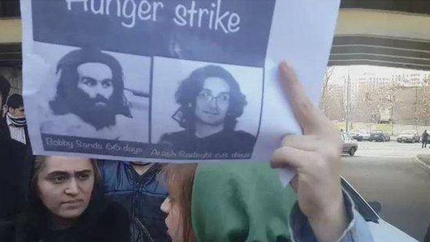 تجمع مقابل زندان اوین