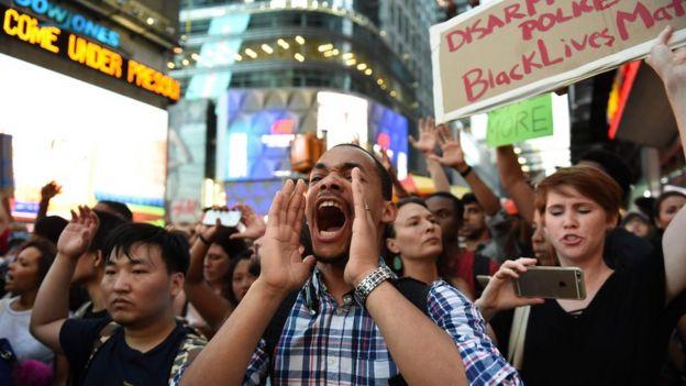 Protestas en Nueva York, EE.UU.