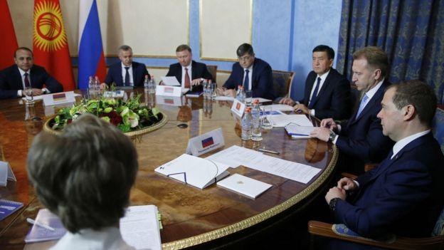 Заседание межправительственного совета Евразийского экономического союза
