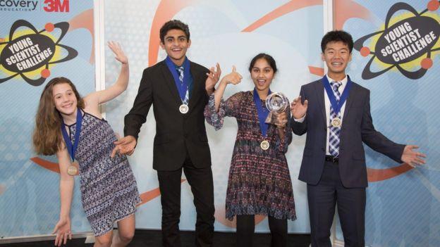 Participantes del concurso de jóvenes talentos científicos de Estados Unidos.