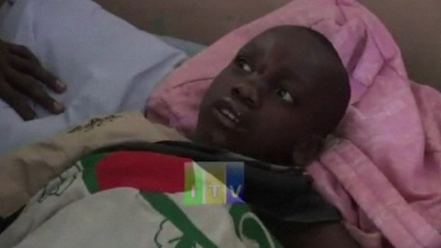 Boy injured in Tanzania earthquake lies in hospital bed on 10 September 2016