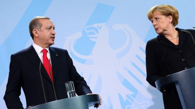 Türkiye Cumhurbaşkanı Erdoğan ve Almanya Başbakanı Angela Merkel, 31 Ekim 2012