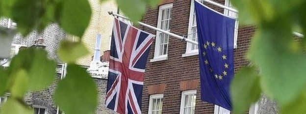 BBC related image EU and British flags