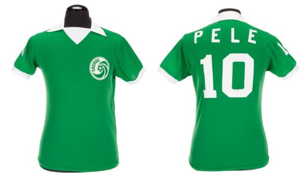 A Pele match-worn New York Cosmos jersey