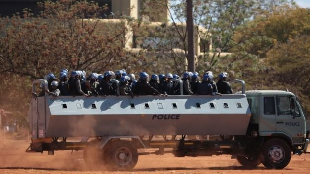 Police in Harare (26 August 2016)