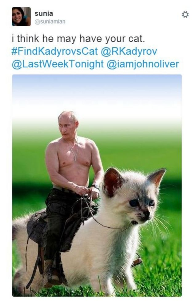 Twitter meme with Putin