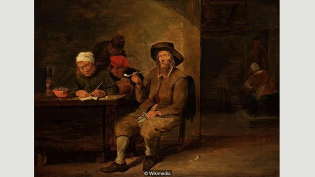 Smokers in an Inn, Mattheus van Helmont