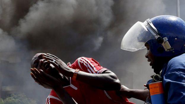Protest against President Nkurunziza