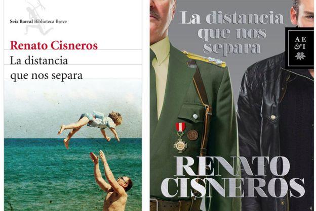 Las portadas de la edición internacional y peruana de