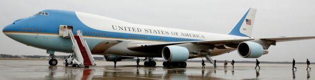 Air Force One ikiwa kituo cha Joint Base Andrews huko Maryland tarehe 6 Disemba mwaka 2016