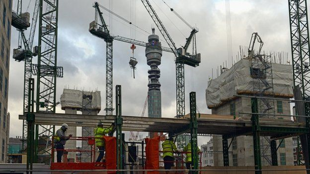 Building site in central London