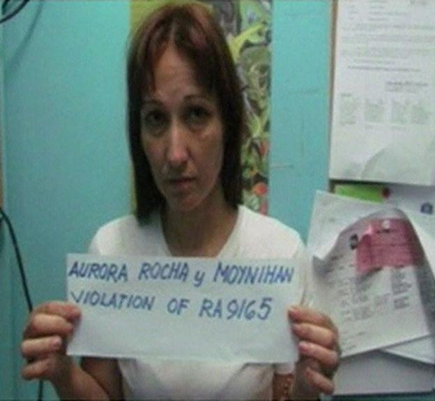 Mugshot of the victim Maria Aurora Moynihan, after a previous arrest. Police  handout 10 September 2016.