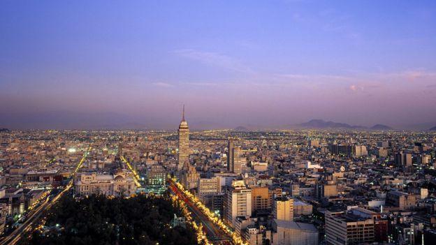 Toma aérea de Ciudad de México.