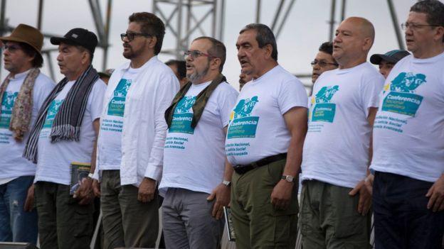Plana mayor de las FARC en la Conferencia