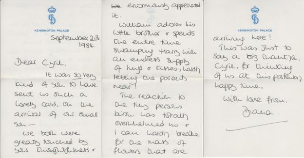 Letters from Princess Diana