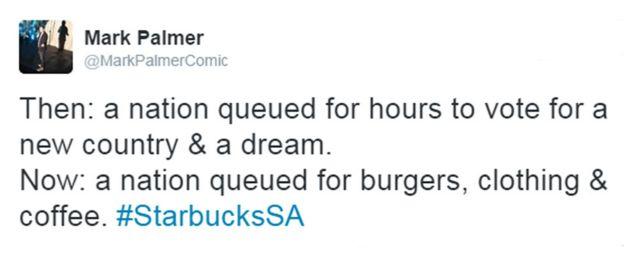 Mark Palmer's tweet: