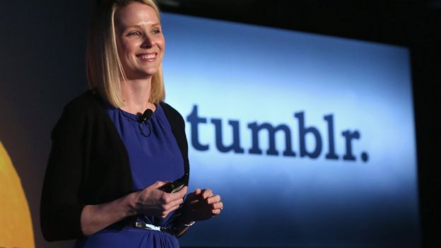 Fotografía de Marissa Mayer, directora ejecutiva de Yahoo.