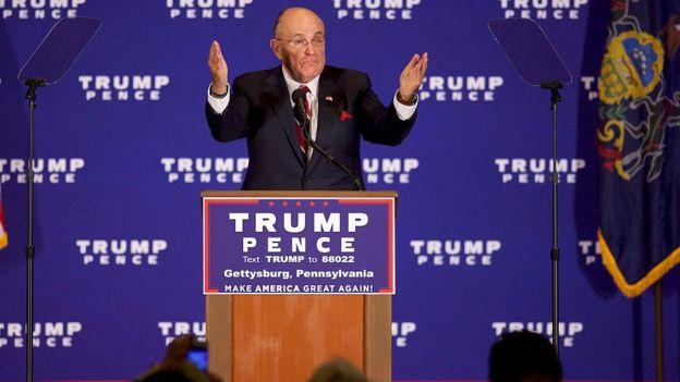Rudy Giuliani'nin adı Adalet Bakanlığı için geçiyor.