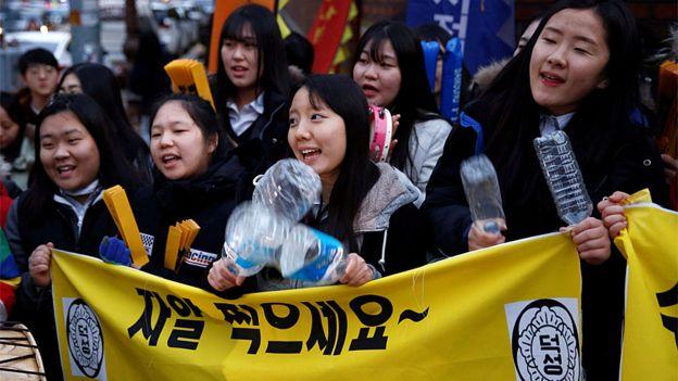 Estudantes na Coreia do Sul