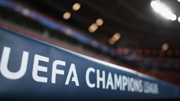 Pancarta de la UEFA Champions League