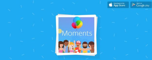 Una captura de pantalla de Facebook Moments