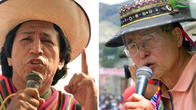 Alejandro Toledo y Alberto Fujimori