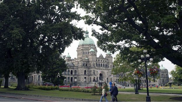 Parliament Building in Victoria, British Columbia, Canada