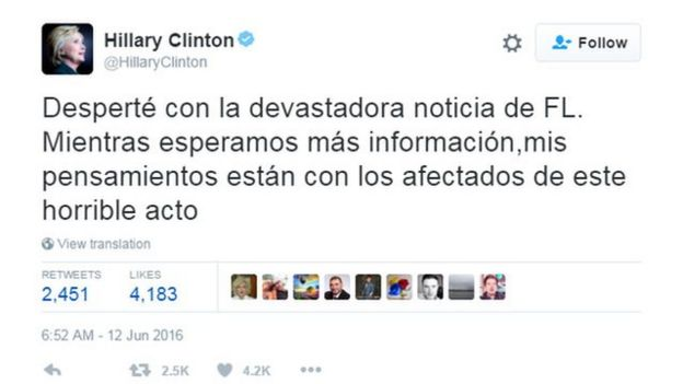 Twitter de Hillary Clinton