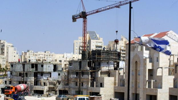 Construction work at Maale Adumim settlement (file photo)