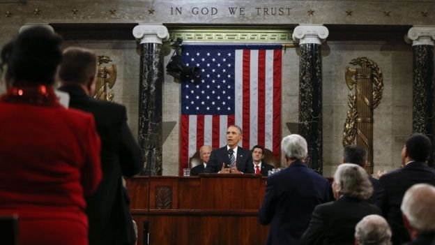 President Barack Obama delivers his State of the Union address before a joint session of Congress on Capitol Hill