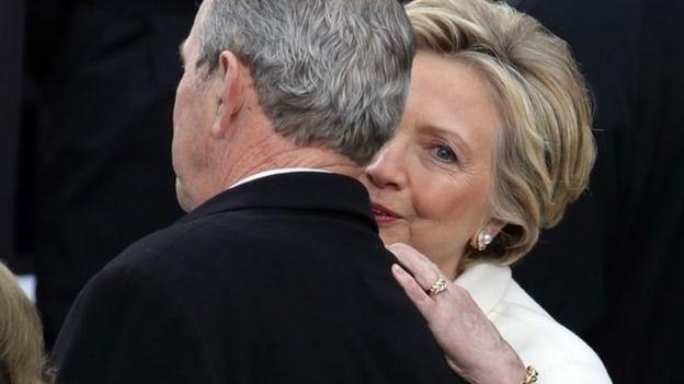 在競選中被特朗普擊敗的民主黨總統候選人希拉里